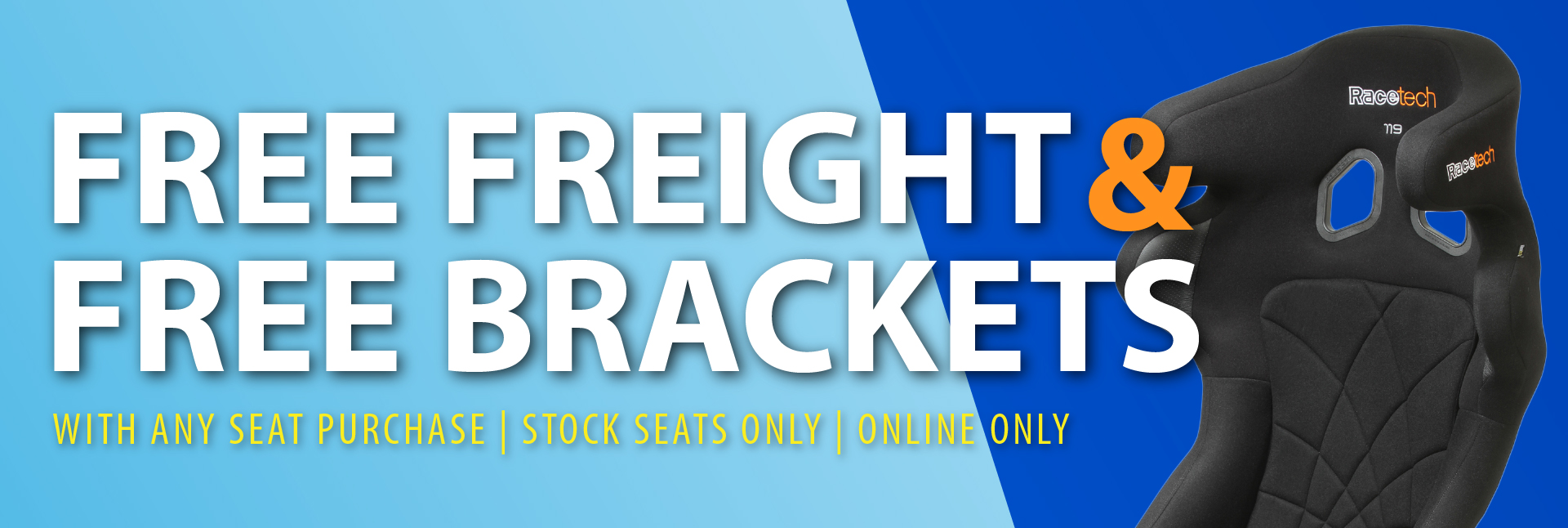 Free freight and brackets